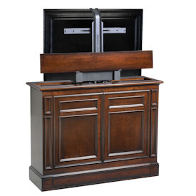 chatham brown 360 swivel tv lift cabinet by tvliftcabinet. Black Bedroom Furniture Sets. Home Design Ideas
