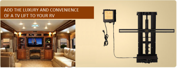 RV TV Lifts Provide Function on the Go